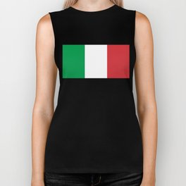 Flag of Italy, High Quality Authentic Biker Tank