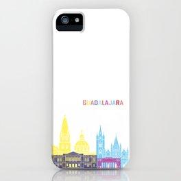 Guadalajara skyline pop iPhone Case