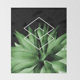 Agave geometrics III Throw Blanket