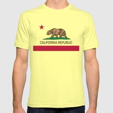 California Republic Flag, High Quality Image Lemon Mens Fitted Tee 2X-LARGE