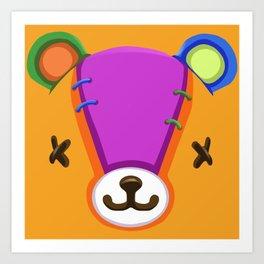 Animal Crossing Stitches the Cub Art Print