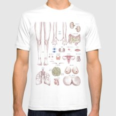 organ-ized Mens Fitted Tee SMALL White