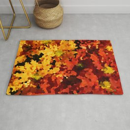 Yellow and Red Sunflowers Rug