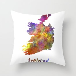 Ireland in watercolor Throw Pillow