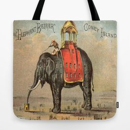 Elephant Bazaar Tote Bag