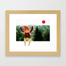 Little wood beastie Framed Art Print