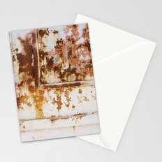 Rust and white paint Stationery Cards