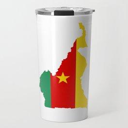 cameroon flag map Travel Mug