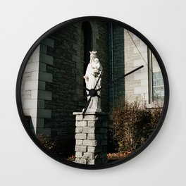 Mary with a Crown Wall Clock