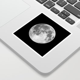 Full Moon print black-white photograph new lunar eclipse poster bedroom home wall decor Sticker