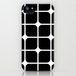 Mod Cube - Black & White iPhone Case