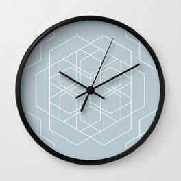Duck Egg Blue Geometry 1 Wall Clock
