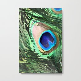Eye of the Peacock's Tail Metal Print