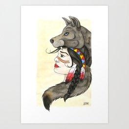 A Wolf's Tail Art Print