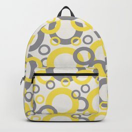 Funky Rings Pattern 2 V4 2021 COTY Illuminating Yellow, Cloud Dancer White, Ultimate Gray Backpack
