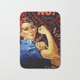 Women Against Trump (Rosie the Riveter) Bath Mat