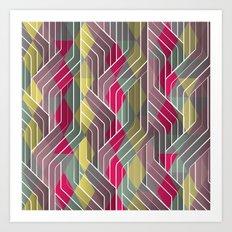Decorative Pattern Triangles Art Print