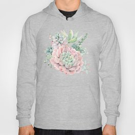 Pink Succulents by Nature Magick Hoody