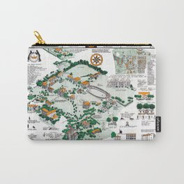 SYRACUSE campus map NEW YORK dorm decor graduate Carry-All Pouch