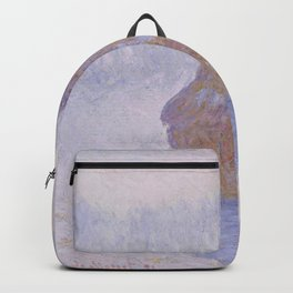 Haystacks, Effect of Snow and Sun by Claude Monet Backpack