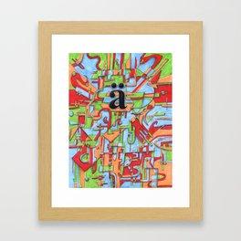 A Umlaut Framed Art Print