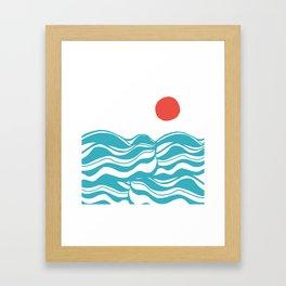 Swell, ocean waves Framed Art Print