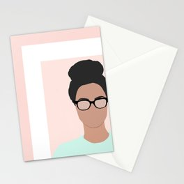 Chanelle wears glasses Stationery Cards