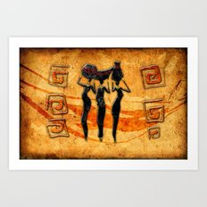 African Water Dancers Art Print
