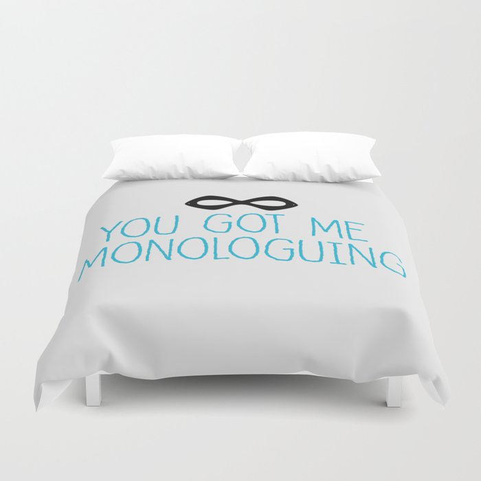 Syndrome Monologuing Duvet Cover