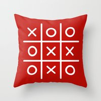 game Throw Pillows featuring Game by lilmissjacqui