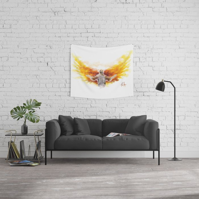 On Wings Like Eagles (Isaiah 40:31) Wall Tapestry