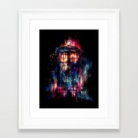 tardis Framed Art Prints featuring All of Time and Space by Alice X. Zhang
