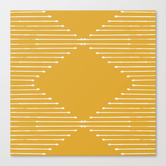 Geo (Yellow) Leinwanddruck