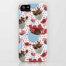 Beautiful Succulent Pattern iPhone Case
