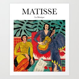 Matisse - La Musique Art Print