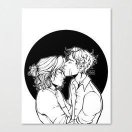 Padfoot + Moony Canvas Print