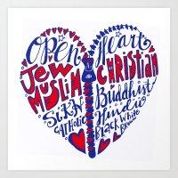 Open Heart to All Art Print