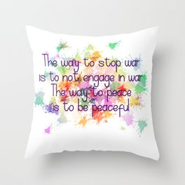 The Way to Peace Throw Pillow