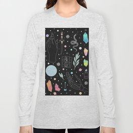 Crystal Witch Starter Kit - Illustration Long Sleeve T-shirt