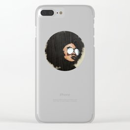 Venus Afro 02 Clear iPhone Case