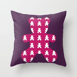 Who´s your teddy? Throw Pillow