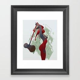 PONDERING Framed Art Print