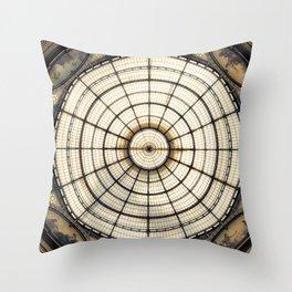 Galleria Vittorio Emanuele II in Milan Throw Pillow
