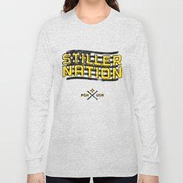 Stiller Nation White Long Sleeve T-shirt