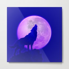 Howlin' At the Moon Metal Print