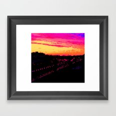 Train City Framed Art Print