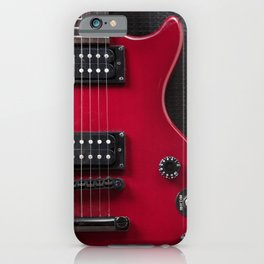 Red Guitar iPhone Case