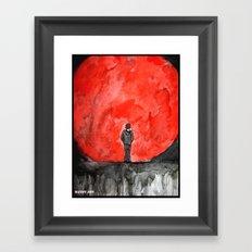The Red Moon Framed Art Print
