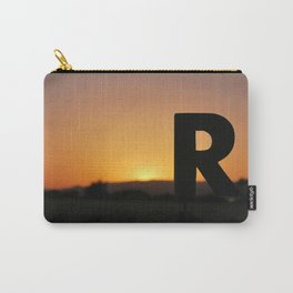 """Woodblock Series, Impermanence, """"R"""" Carry-All Pouch"""