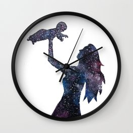 Her Whole Universe Wall Clock